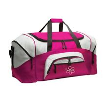 Flower Personalized - Colorblock Sport Large Duffle Bag Great For The Gym Or Tr