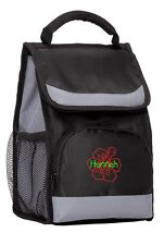 Personalized Hibiscus Flower Insulated Waterproof Lunch Tote Bag With Flap CSBG