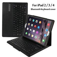 For Apple iPad 2 3 4 Magnetically Detachable ABS Bluetooth Keyboard Folio Cover