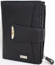 RFID Security Lined Quality Full Grain Cow Hide Leather Purse. Style: 21056.