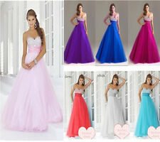 New Stock Sweetheart Prom Party Bridesmaid Evening Dress Size 8 10 12 14 16 18
