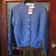 "VTG ~ NWT Women's Blue Button Down Cardigan Sweater ""ROBERT SCOTT"" Size-38"