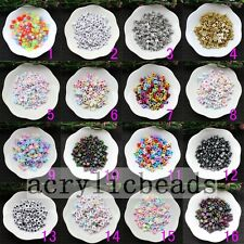 6MM Mixed Color Plastic Letter Alphabet Cube Coin Spacer Beads DIY Charms 100pcs