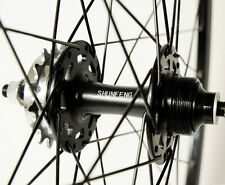 SSC Track Wheels | Single Speed & Fixed Gear Flip Flop Hub | Black 700c Wheel