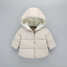 New Winter Kids Outerwear Clothing Baby Girls Hooded Down Cotton Jackets & Coats
