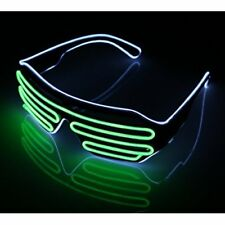 LED Light Up Glasses Sound Activated Shutter EL Wire Neon Glasses for Halloween