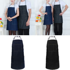 Fashion Unisex Adjustable Strap Restaurant Kitchen Chefs Pocket Jean Aprons