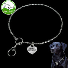 Personalized Dog Snake Chain Collar Stainless Steel With Engraved Pet ID Tags