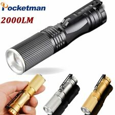 Pocketman 2000LM CREE Q5 Waterproof LED Flashlight Zoomable LED Torch Penlight
