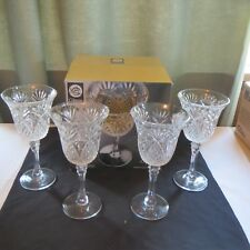"""NEW Set 4 Clear 14oz. Everyday Wine Goblet Glasses by GIBSON """"JEWELITE""""  W/Box"""