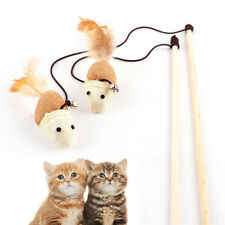 NEW Wooden Pole Hemp Mice Mouse Tease Cats Rods Plaything Environmental Pet Toys