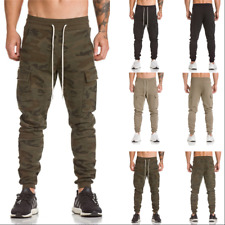 Mens Sports Slim Fit Pencil Cotton Pants Running Gym Jogger Sweatpants Trousers