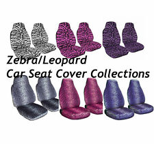 Zebra/Safari/Leopard Car Front Seat Cover 2pcs Set