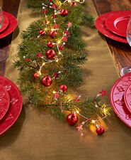 """75"""" Lighted Star and Jewel Battery-Operated Garland Christmas Home Decor New"""