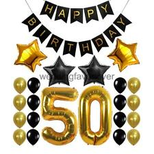 Birthday Banner 30th 40th 50th 60th Birthday Foil Balloons Party Decoration Kits