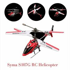 Syma 3 Channel S107G Mini Indoor Co-Axial R/C Helicopter Gyro Red RC LOT SY