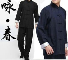 Chinese Kung Fu Wing Chun Suits Martial Arts Tai Chi Uniform Bruce Lee Costume