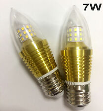 E27 E14 5W 7W 9W SMD Torpedo Shape Candle Light Bulb White Warm Lamp AC 85-265V