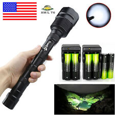 48000 Lumens 3 X T6 LED Flashlight Tactical Torch Lamp 18650+Charger