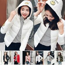 New Women's short coat hooded down jacket warm winter parka outwear Print EO
