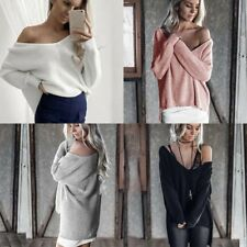 Women Long Sleeve Knitted Sweater Top Loose Cardigan Outerwear Coat Oversized EO