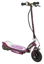 Razor E100 Motorized 24V Rechargeable Electric Powered Kids Scooter, Purple