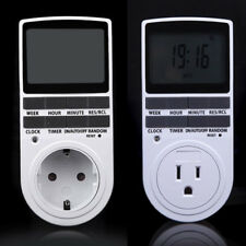 Digital LCD Display US Plug In Programmable Timer Switch Socket 24 hour#7 Days