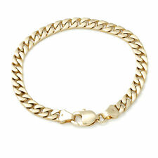 Solid 9k Flat Curb Chain 6mm Gold Bracelet 17 18 19 20 21 22 cm MADE TO ORDER