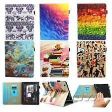 PU Leather Painted Case for Apple iPad Tablets Wallet Holder Smart Flip Cover
