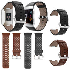 Perforated Genuine Leather Accessory Band Bracelet Watchband For Fitbit Ionic