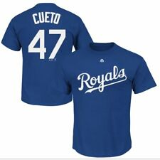 NWT Majestic Johnny Cueto Kansas City Royals Youth MLB Name Number Crew Neck XL
