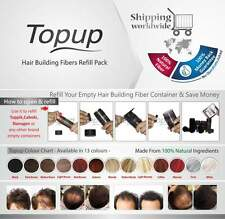 Hair Building Fiber Refill Bag 100% Natural 12 Color - Topup Hair Loss Concealer