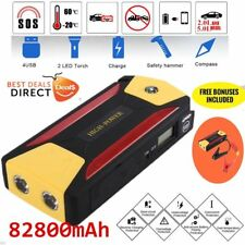 82800mAh Car Jump Starter Portable Charger Booster Power Bank LED Torch XX