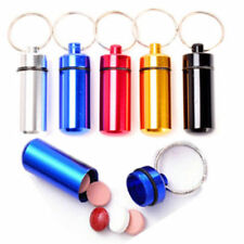 Aluminum Pill Box Case Bottle Cache Drug Holder Keychain Container Waterproof XG