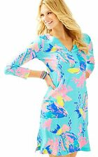 NEW Lilly Pulitzer RIVA DRESS Shorely Blue Sandstorm Small Reduced XS S M