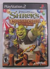 Shrek's Carnival Craze Party Games (Sony PlayStation 2, 2008) Cleaned & Tested!