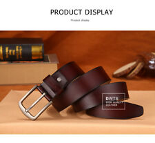 Mens Belts Luxury 100% Top Cow Genuine Leather Belts High Quality Pin Buckle