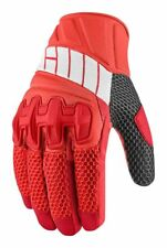 Icon Overlord Adult Leather/Mesh Motorcycle  Gloves, Red