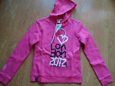 ADIDAS TEAM GB LONDON 2012 OLYMPICS LADIES PINK HOODIE SIZE 10 BNWT