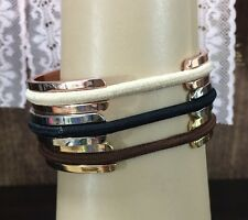 t Hair Tie Bracelet Elastic Band Bangle Cuff Stainless Steel Rose, Gold, Silver