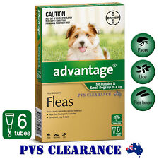 Advantage Green 6 for Puppies & Small Dogs Up To 4 kg -  6 Pack - Puppy Flea