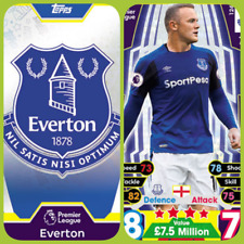 Match Attax 17 18 Everton - Team Cards - Star Player - Club Badge - Away Kit