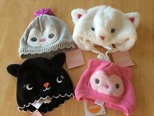 NWT Gymboree Baby Girls Winter Sweater Hat 18-24mo Bear Kitty