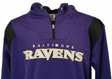 Baltimore Ravens NFL Team Apparel 1/4 Zip Hooded Jacket, Mens Big & Tall, nwt