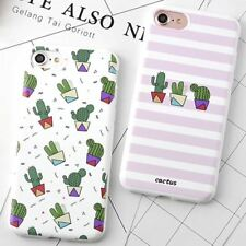 Korea Fashion Stripe Cactus Phone Case for Apple Iphone 6 6s 6plus 6splus 7 7 Pl