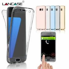 LANCASE Smartphone Cover For Samsung Galaxy S7 Edge S8 Case Silicone Clear TPU S