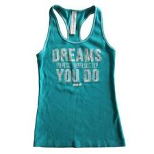 On Sale Lorna Jane Womens Turquois 'DREAMS ONLY WORK IF YOU DO' Tank All Size