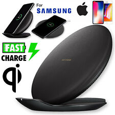 Qi Wireless Charger Fast Charge Foldable Pad Stand For iPhone X Note8 S8 S9 Plus