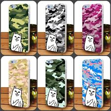 Camouflage RIPNDIP Cat Animal Lover Pattern Case For iphone samsung and Huawei