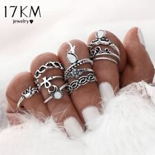 Women Metal Ring Gold Plated Vintage Jewelry Midi Finger Knuckle Sets Rings Sale